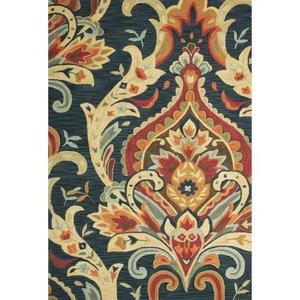 """Brocade Handmade Floral Multicolor Area Rug (5'  x  7'6"""")"""