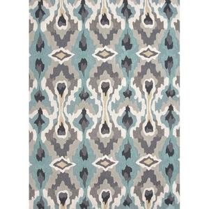 Chapan Handmade Ikat Blue / Gray Area Rug (2'  x  3')