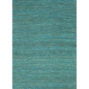 Havana Natural Solid Turquoise Area Rug (5'  x  8')