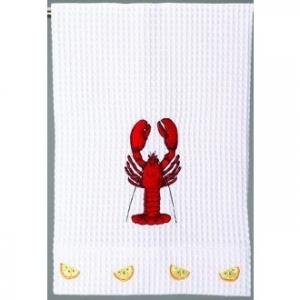 Lobster Kitchen Waffle Weave Towel