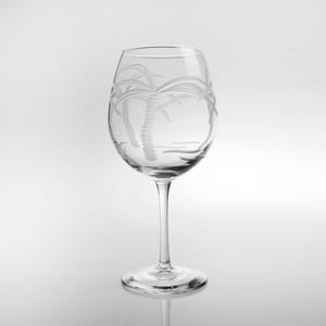 Palm Tree Balloon Wine Glasses (Set of 4)