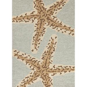 "Sea Star Indoor / Outdoor Animal Blue / Brown Area Rug (3'6""  x  5'6"")"