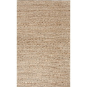 Clifton Natural Solid Tan / White Area Rug (8'  x  10')