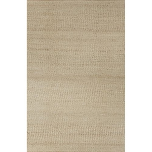 Diagonal Weave Natural Solid Beige / White Area Rug (8'  x  10')