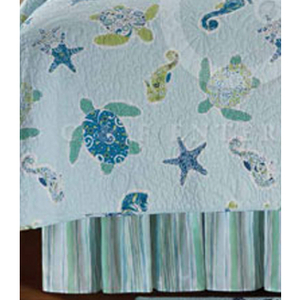 Imperial Coast Sea Turtle Dust Ruffle Bed Skirt