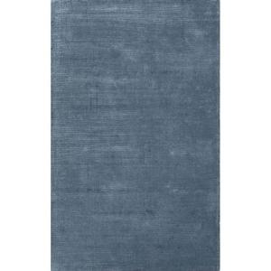 Kelle Handmade Solid Blue Area Rug (5'  x  8')