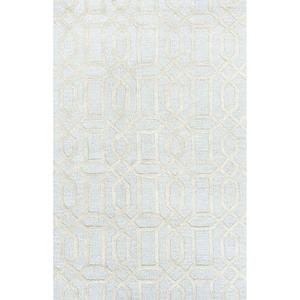 Bellevue Handmade Trellis Blue / Ivory Area Rug (2'  x  3')