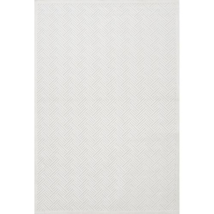 Thatch Geometric White Area Rug (2'  x  3')