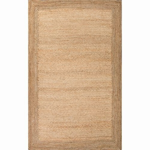 Aboo Natural Solid Beige Area Rug (5'  x  8')