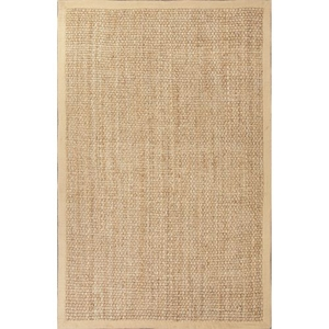 Adesina Natural Solid Beige Area Rug (5'  x  8')