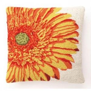 Yellow Gerbera Hook Pillow