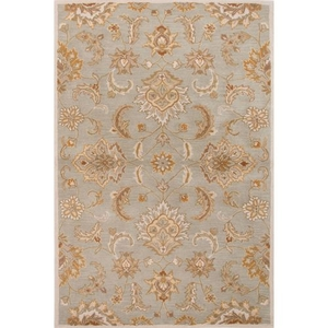Abers Handmade Floral Blue / Tan Area Rug (2'  x  3')