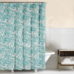 Cora Blue Shower Curtain