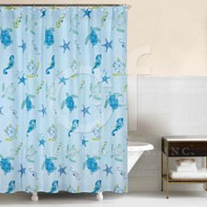 Imperial Coast Sea Turtle Shower Curtain