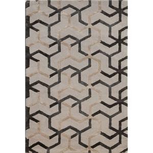 Addy Handmade Geometric Gray / Beige Area Rug (2'  x  3')