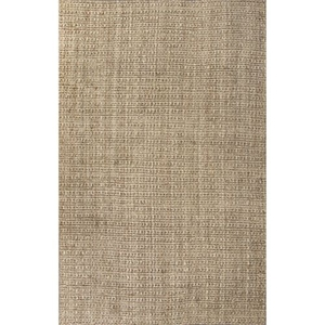 Achelle Natural Solid Taupe Area Rug (9'  x  12')