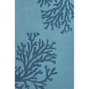 "Bough Out Indoor / Outdoor Floral Teal / Blue Area Rug (5'  x  7'6"")"