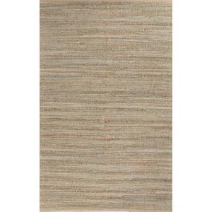 "Canterbury Natural Solid Tan / Green Area Rug (2'6""  x  4')"