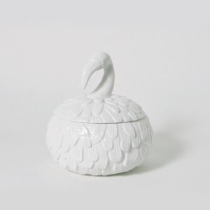 Feathered Nest Flamingo Ceramic Canister