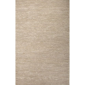 Tango Natural Solid Silver / White Area Rug (5'  x  8')