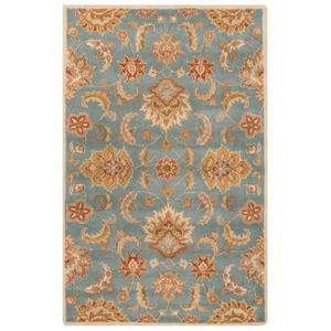 Abers Handmade Floral Blue / Multicolor Area Rug (5'  x  8')
