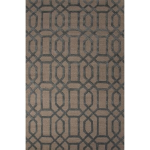 Bellevue Handmade Trellis Blue / Beige Area Rug (5'  x  8')