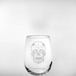 Sugar Skull Red Wine Tumbler 17oz