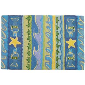 Waves and Starfish Rug