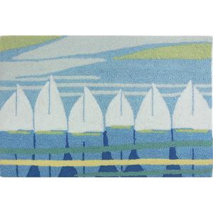 Sailboat Regatta Accent Rug