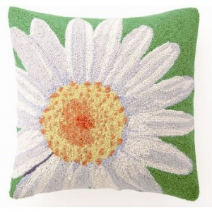 White Daisy Hook Pillow