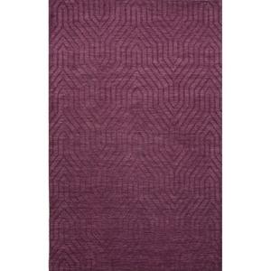 Town Handmade Solid Purple Area Rug (2'  x  3')