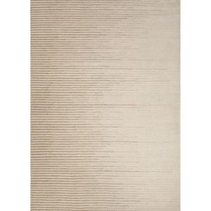 Tabo Handmade Stripe Cream / Gold Area Rug (5'  x  8')