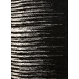 Tabo Handmade Stripe Black / Cream Area Rug (5'  x  8')