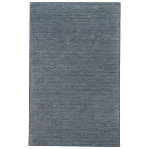 Adelia Handmade Solid Blue Area Rug (5'  x  8')