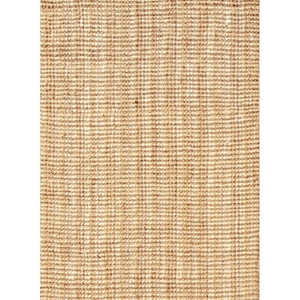 Marvy Natural Solid Beige / White Area Rug (9'  x  12')