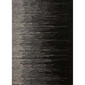 Tabo Handmade Stripe Black / Cream Area Rug (2'  x  3')