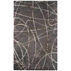 Denali Handmade Abstract Gray / Brown Area Rug (5'  x  8')