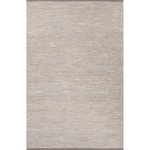 Nikki Chu by Vega Natural Solid Gray / Silver Area Rug (5'  x  8')