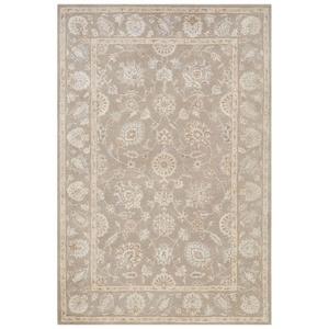 Watson Handmade Floral Gray / Brown Area Rug (5'  x  8')