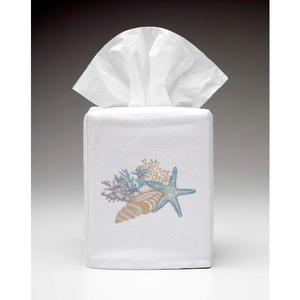 Seashell Collection Tissue Box Cover