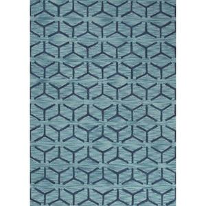 "Thorton Handmade Trellis Blue Area Rug (7'6""  x  9'6"")"