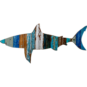 Great White Shark Wooden Plaque