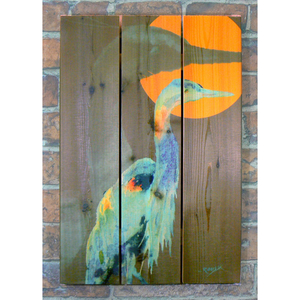 Great Blue Inside/Outside Cedar Art