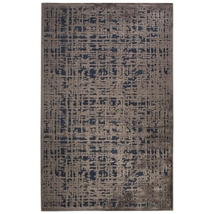 """Dreamy Abstract Gray / Blue Area Rug (5'  x  7'6"""")"""