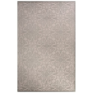 Stockton Geometric White / Gray Area Rug (2'  x  3')