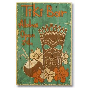 Tiki Bar Wood Art