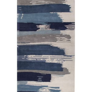 Luli Sanchez by Painterly Handmade Abstract Blue / Gray Area Rug (9'  x  13')