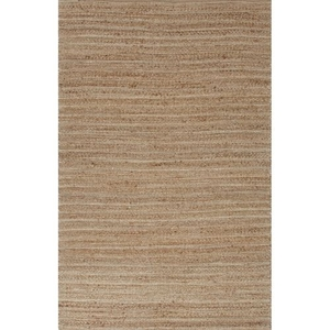 """Canterbury Natural Solid Tan / White Area Rug (9'6""""  x  13'6"""")"""
