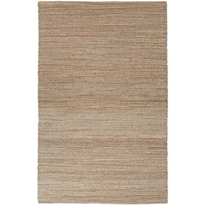 """Canterbury Natural Solid Beige / Blue Area Rug (9'6""""  x  13'6"""")"""