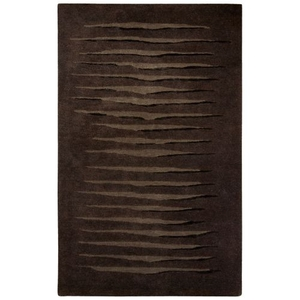 Nikki Chu by Zeke Handmade Stripe Brown / Silver Area Rug (8'  x  10')
